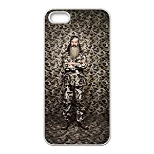 Happy Happy Happy Camouflage Duck Dynasty iPhone 5 5s Cell Phone Case White CVXEYERTE09623 Back Plastic Phone Case