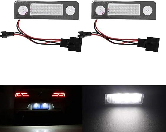 white LED License Plate Light White For Skoda Octavia 2 1Z//Roomster 5J 2006-2010