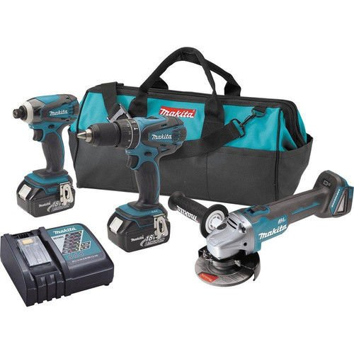 Makita XT324-R 18V LXT Cordless Lithium-Ion 2-Piece Kit w/Free Brushless Grinder (Certified Refurbished)