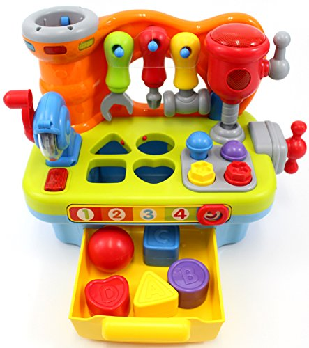 CifToys Musical Learning Workbench Toy for Kids Construction...