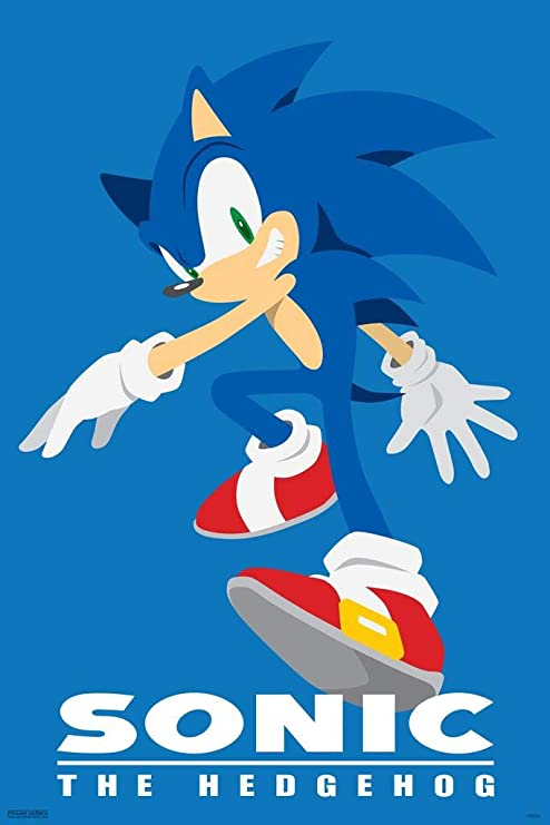 Amazon Com Pyramid America Sonic The Hedgehog Character Sega Video Game Gaming Laminated Dry Erase Sign Poster 12x18 Posters Prints