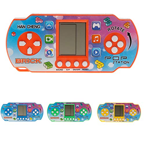 JAGETRADE 26Games Colorful Retro Classic Childhood Tetris Handheld Game Players LCD Electronic Toys Game Console Fidget Toy Kids Toy Gift ()