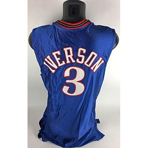 the latest 3c5f9 8e3fd Allen Iverson Game Used/Worn 2001-02 Philadelphia 76ers ...