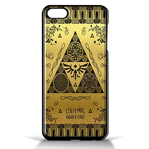 Legend of Zelda Kingdom of Hyrule Crest Letterpress Gold for iPhone 5/5s Black case