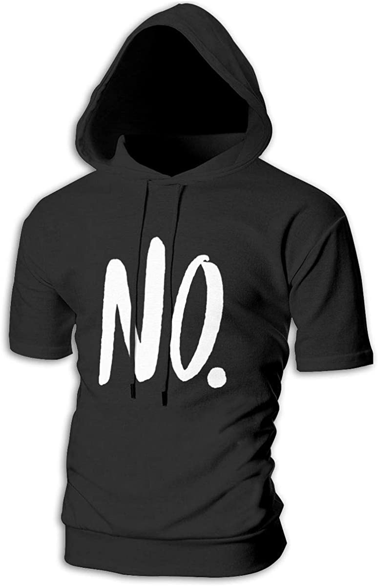TRYOMWO Young Mens Short Sleeve Hoodie No Casual Pullover Sweatshirt Top Hooded Shirt