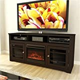 Pemberly Row 60 Fireplace TV Stand in Espresso