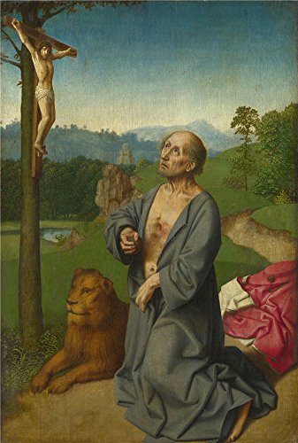 Ram Bedside Rails (Oil Painting 'Workshop Of Gerard David-Saint Jerome In A Landscape,1501' 24 x 36 inch / 61 x 90 cm , on High Definition HD canvas prints is for Gifts And Bar, Dining Room And Kids Room Decoration, diy)