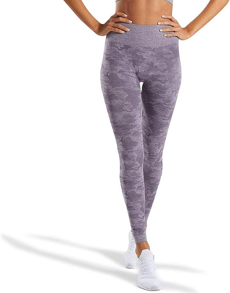 WodoWei Women's High Waisted Camo Seamless Leggings 7/8 Length Workout Yoga Pants
