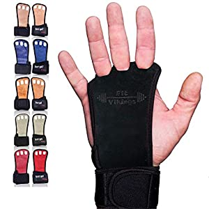 Well-Being-Matters 51CtDTAtPEL._SS300_ Gymnastics Grips - Gloves for Crossfit - Workout Gloves with Wrist Wraps - Weight Lifting Gloves - Gym Gloves for Pull…