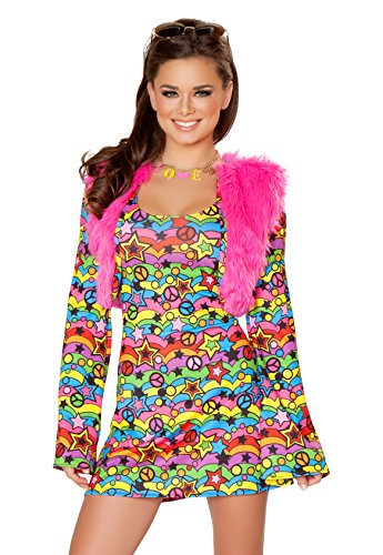 J. Valentine Women's Shaggy Chic Costume, Multi, Large