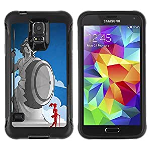 Hybrid Anti-Shock Defend Case for Samsung Galaxy S5 / Cool Ancient Greek Statue