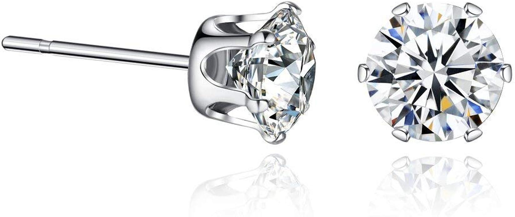 Silver Earrrings high quality  Cubic Zirconia  American Diamond