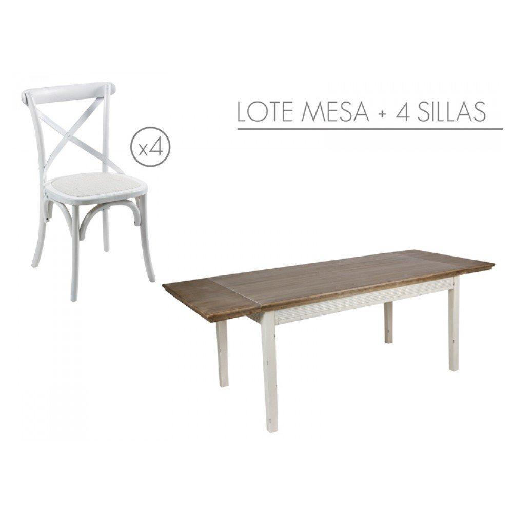 Stapel - tisch mit 4 stühlen