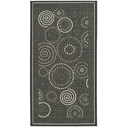 Safavieh Courtyard Collection CY1906-3908 Black and Sand Indoor/ Outdoor Area Rug (5'3