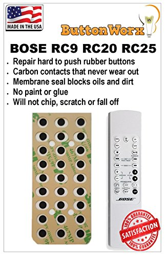 Bose Remote Control Button Repair Kit for RC9 RC20 & RC25