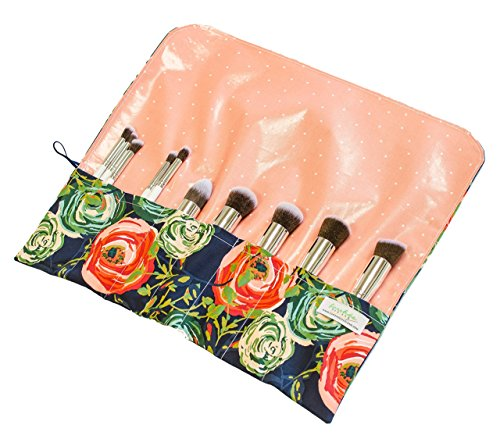 Makeup Brush Roll | Travel Cosmetic Set | Make Up Organizer | Handmade M0020 by Forshee Designs