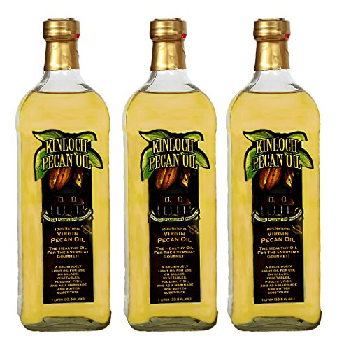 Pecan Oil (Kinloch Plantation Products Pecan Oil, Three (3) 1000 ML Bottles)