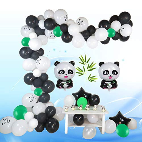 Balloon Garland Panda Arch Kit 16Ft Long Colorful Latex Balloons Pack for Baby Shower Wedding Birthday Bachelorette Party Background Decorations]()