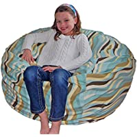 Ahh! Products Wavelength Lake Cotton Washable Large Bean Bag Chair