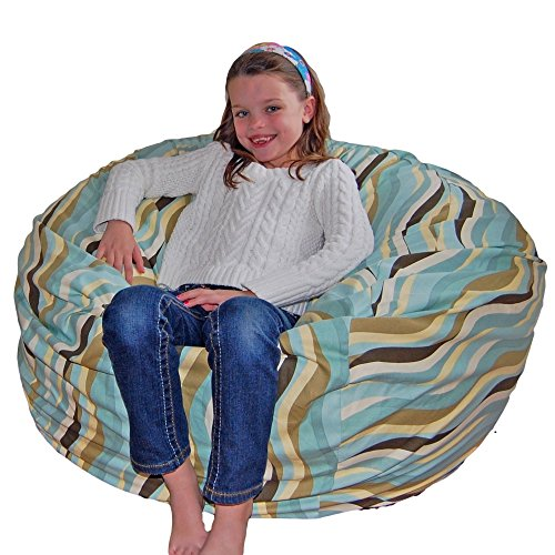 Ahh! Products Wavelength Lake Cotton Washable Large Bean Bag Chair (Wavelength Game)