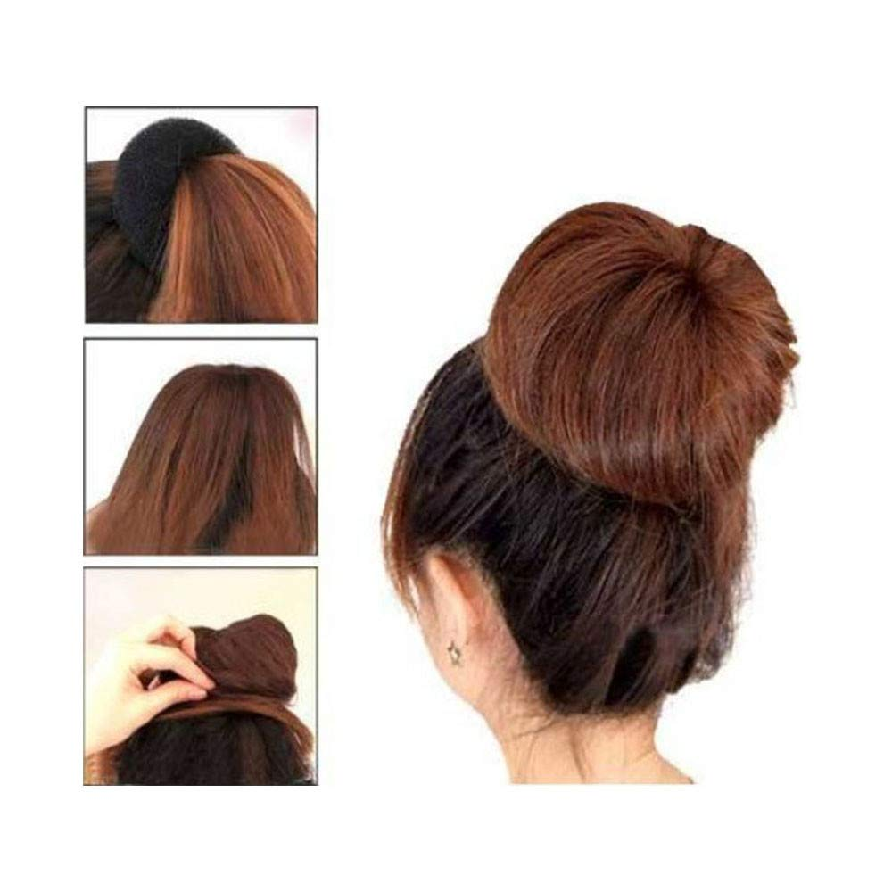 BROWN WOMEN HAIR BUN RING DONUT SHAPER 3 SIZE IN PACKAGE.
