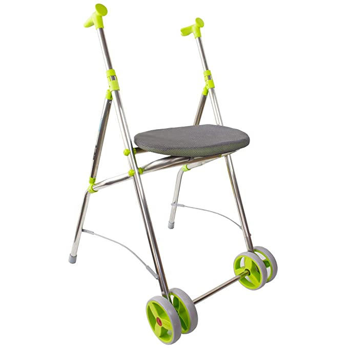 Andador Rollator | De aluminio | Plegable | Regulable en altura | Color pistacho