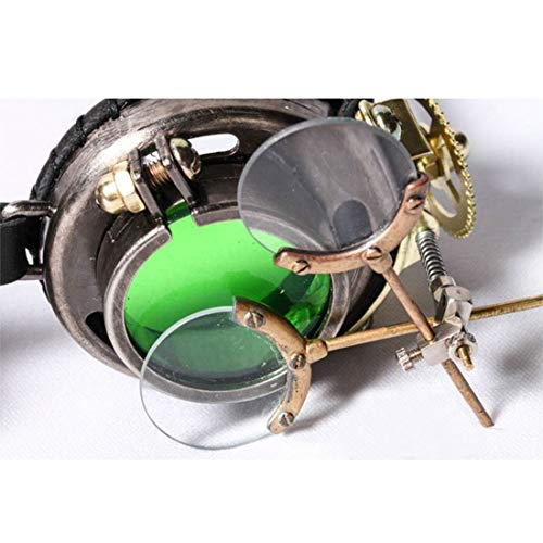 3 Style1 réglable Style1 Lunettes victoriennes en Color WEATLY Cuir de lentilles Lunettes lanière Vache Gothique Steampunk Couleur avec et de Uw4FqvHxfa
