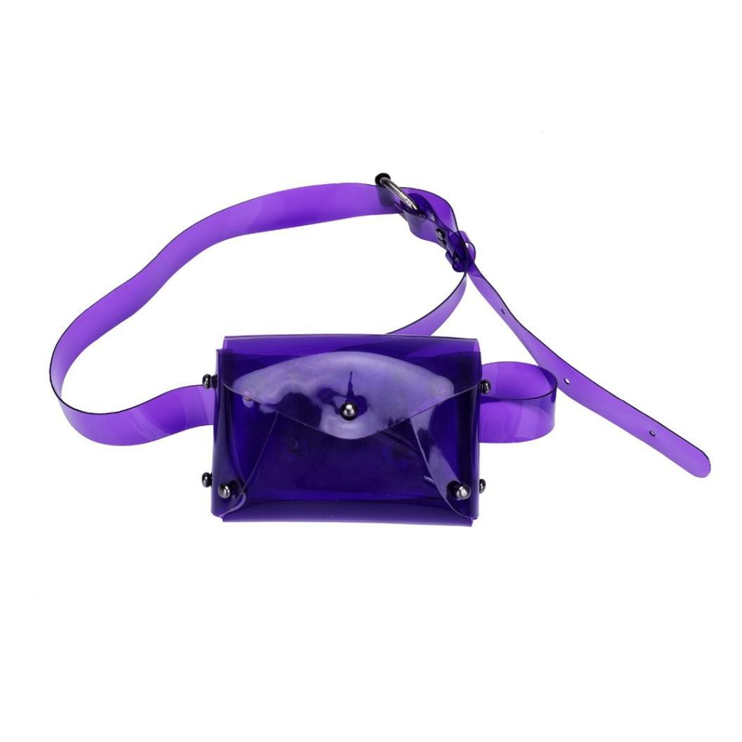 Inkach - Women Fanny Waist Pack - Waterproof Crossbody Shoulder Chest Bag - Sport Running Waist Bags (Purple)