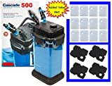 Penn Plax Cascade Canister Filter Value Bundles (Cascade 500 Bundle)
