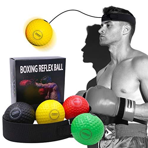 Wenosda Boxing Reflex Ball Set Training Speedball Punching Fight Balls Speed Bag Kickboxing Exercise Equipment 2…
