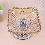 GTVERNHLarge crystal glass ashtray, home furnishings, living room, porch, window decorations
