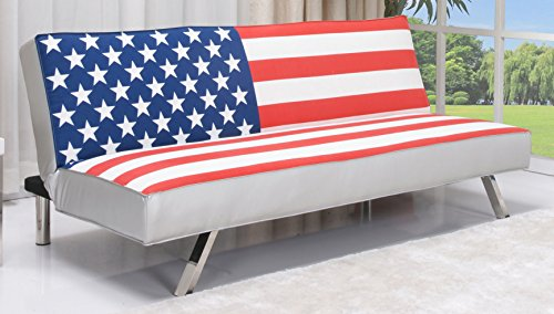 Gold Sparrow American Flag Futon Sofa Bed