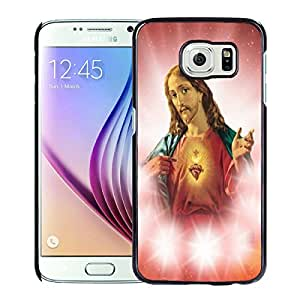 New Fashion Custom Designed Cover Case For Samsung Galaxy S6 With jesus christ Black Phone Case