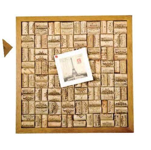 (Wine Cork Corkboard Bulletin Board Set)