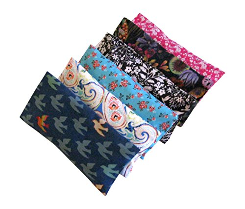 Peacegoods Aromatherapy Eye Pillow – Bundle of (6) – 4.5 x 9 – Organic Lavender Chamomile Flax Cotton – Removable Cover Washable – teal blue green rainbow bird pink black Review