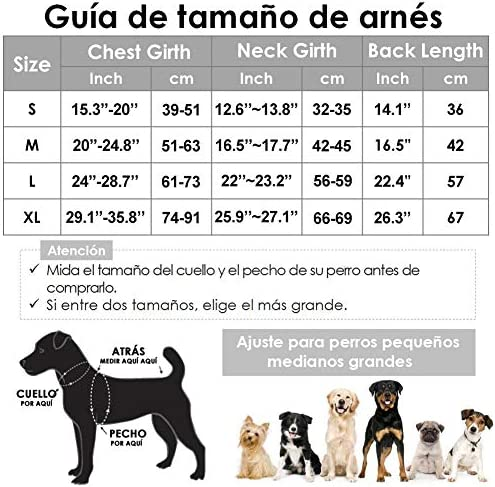 Chaqueta de invierno para perros forro de franela desmontable abrigo para perros cuello ajustable y tamaño de pecho pequeños medianos grandes 5