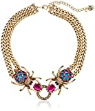 """Betsey Johnson """"Creep Show"""" Double Spider Necklace"""