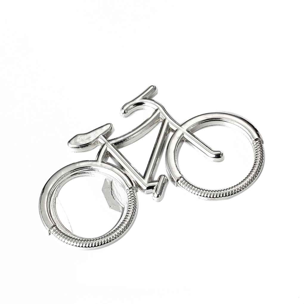 Lidahaotin Mignon vélo Vélo bière en métal ouvre-bouteille porte-clés Porte-clés pour le vélo amant Biker