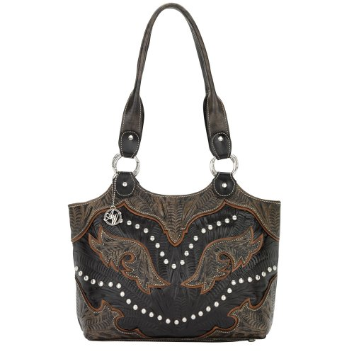 6883634 American West Women's Cowgirl Wings Purse – Dark Chocolate, Bags Central