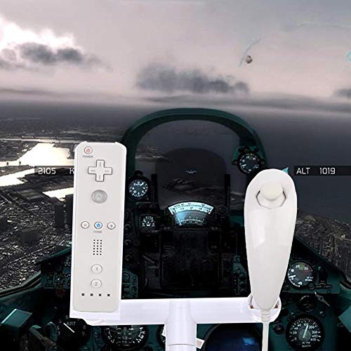 FidgetFidget Plastic Airplane Aeroplane Joypad Controller Stand for Nintendo Wii Flight Game