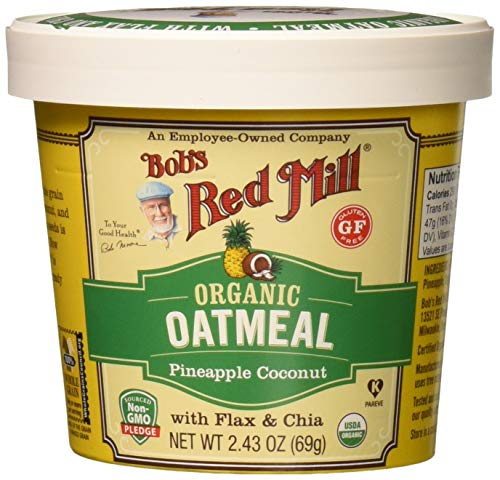 (Bob's Red Mill Organic Gluten Free Oatmeal Cup Pineapple Coconut, 2.43 Ounce, 12 Count)