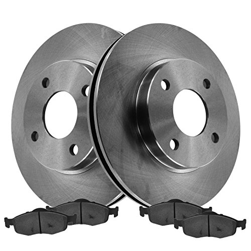 Rotor & Semi-Metallic Brake Pad Front Kit for Contour Cougar Mystique