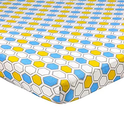 Abstract Fitted Crib Sheet – Ultra Soft, 100% Jersey Knit Cotton - Hypoallergenic Boys and Girls Nursery Bedding - Elastic Hem - Mini and Standard Crib Sizes
