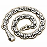 Huge & Heavy 925 Sterling Silver Hook Belt Clip Mens Biker Punk Wallet Chain 8W006WC (End to End 26 inches)