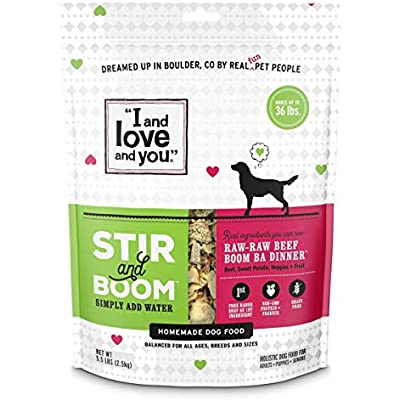"""""""I and love and you"""" Stir & Boom Dehydrated Freeze Dried Raw Dog Food Topper (Variety of Flavors)"""