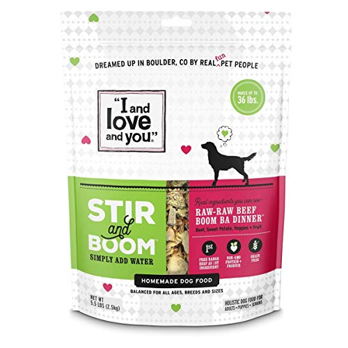 'I and love and you', Stir & Boom Dehydrated Freeze Dried Raw Dog...