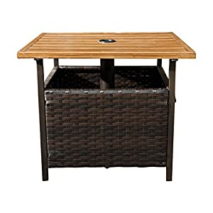 sunlife outdoor pe wicker stand side table