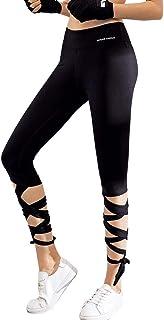 TMISHION Top Leggings a Vita Alta Elasticità Stretto Capri Legging Running Training Sport Pantaloni da Yoga, Prendi Le Gambe Lunghe