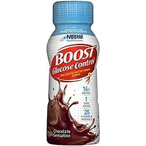 Boost Glucose Control Nutritional Drink, Chocolate Sensation, 8 fl oz Bottle, 24 Pack