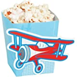 """Cardboard Cut Out Up And Away Popcorn Boxes. (2 Dozen Per Unit) 3"""" x 3"""" x 4"""" Box With 2 1/2"""" x 4 1/2"""""""